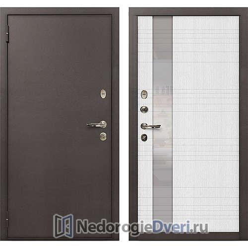 Входная дверь Лекс 1А Медный Антик (№52 Беленый дуб)