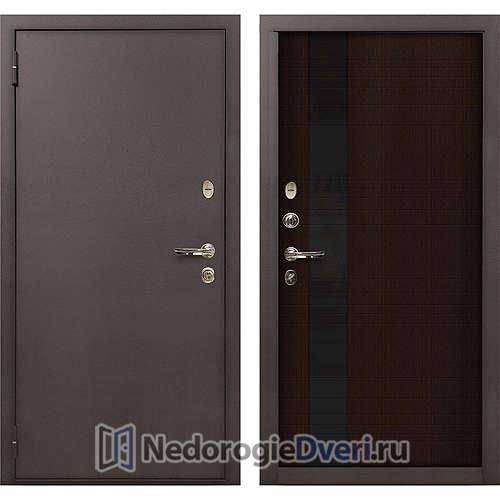 Входная дверь Лекс 1А Медный Антик (№53 Венге)