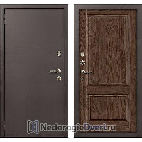 Входная дверь Лекс 1А Медный Антик (№57 Орех)