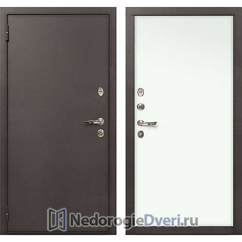 Входная дверь Лекс 1А Медный Антик (№59 Белый)