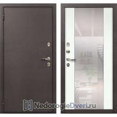 Входная дверь Лекс 1А Медный Антик (№61 Белый с зеркалом)