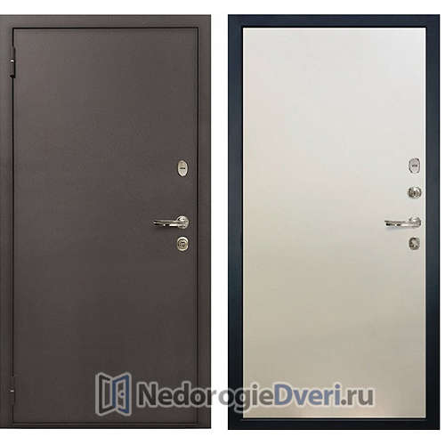 Входная дверь Лекс 1А Медный Антик (№62 Белый ясень)