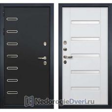 Металлическая дверь Лекс Витязь (№34 Белый ясень с матовым стеклом)