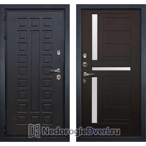Входная дверь Лекс Гладиатор 3К (№35 Венге с матовым стеклом)