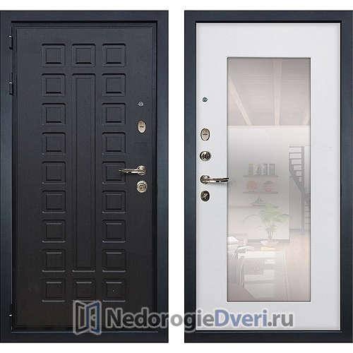 Входная дверь Лекс Гладиатор 3К (№37 Белый ясень с зеркалом)
