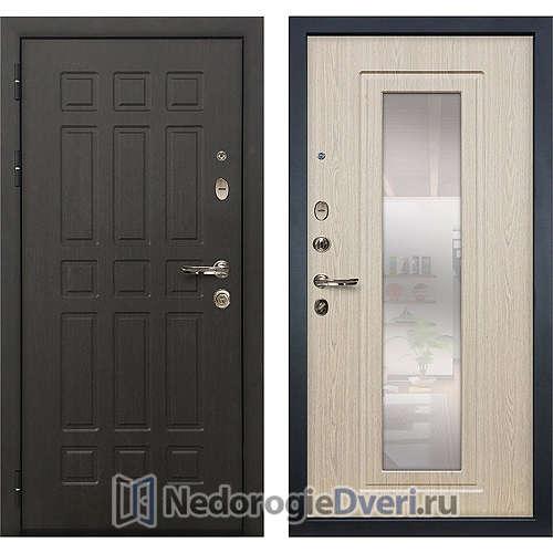 Входная дверь Лекс Сенатор (№23 Беленый дуб с зеркалом)