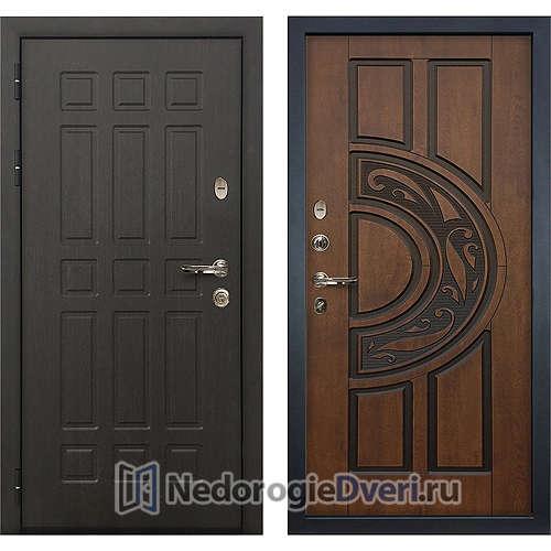 Входная дверь Лекс Сенатор (№27 Golden патина чёрная)