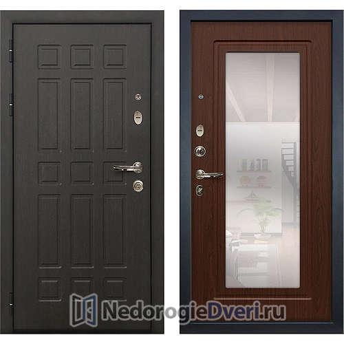 Входная дверь Лекс Сенатор (№30 Береза мореная с зеркалом)