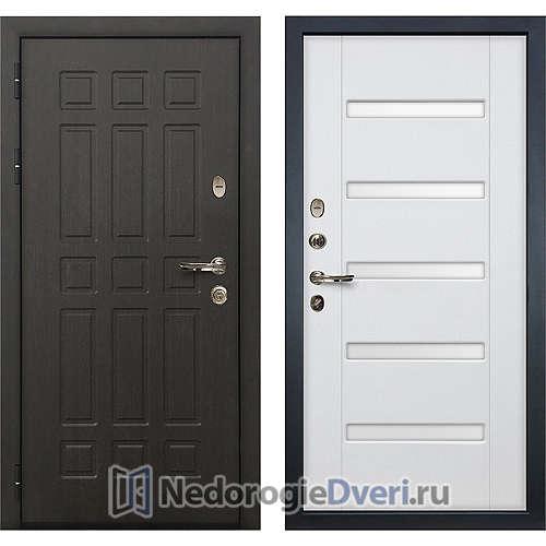 Входная дверь Лекс Сенатор (№34 Белый Ясень с матовым стеклом)