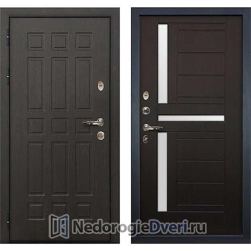 Входная дверь Лекс Сенатор (№35 Венге с матовым стеклом)