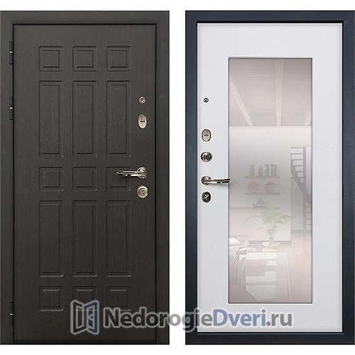 Входная дверь Лекс Сенатор (№37 Белый ясень с зеркалом)
