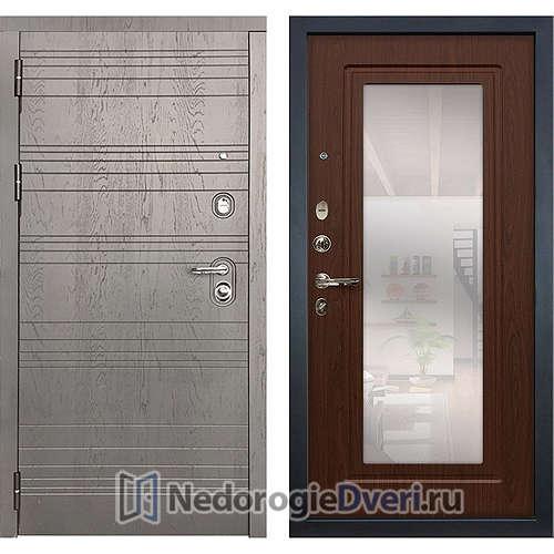 Входная дверь Лекс Легион (№30 Береза мореная с зеркалом)