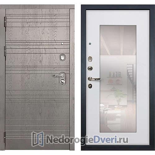 Входная дверь Лекс Легион (№37 Белый ясень с зеркалом)