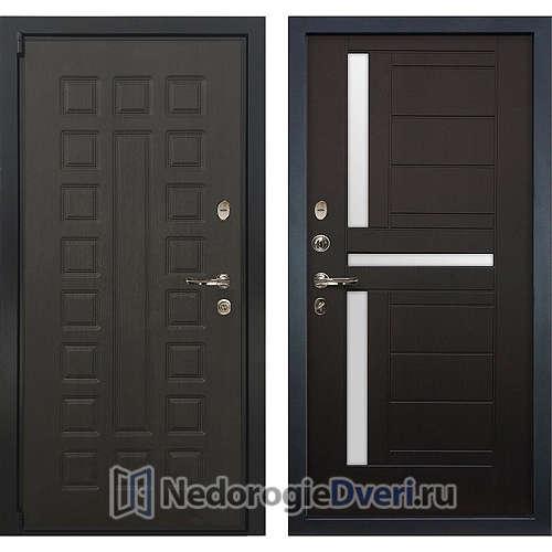 Входная дверь Лекс Неаполь Mottura Cisa (№35 Венге с матовым стеклом)