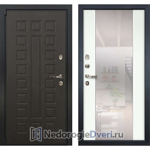 Входная дверь Лекс Неаполь Mottura Cisa (№61 Белый с зеркалом)