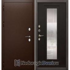 Уличная дверь Лекс Сибирь Термо 3К с терморазрывом (№22 Венге с зеркалом)