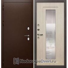Дверь для частного дома Лекс Сибирь Термо 3К №23 (Для частного дома) Беленый дуб с зеркалом