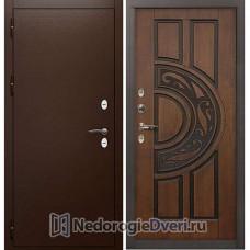 Дверь с терморазрывом Лекс Сибирь Термо 3К ( Для частного дома) №27 Golden патина чёрная