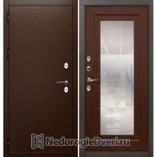 Дверь с терморазрывом Лекс Сибирь Термо 3К (В частный загородный дом) №30 Береза мореная с зеркалом