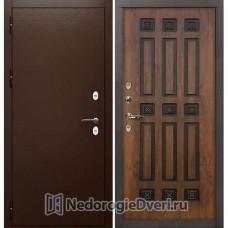 Дверь с терморазрывом Лекс Сибирь Термо 3К (Уличная) №33 Golden патина чёрная