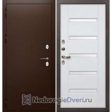Входная дверь с терморазрывом Лекс Сибирь Термо 3К (№34 Белый ясень)