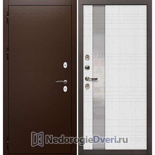 Входная дверь Лекс Сибирь Термо 3К (№52 Беленый дуб)