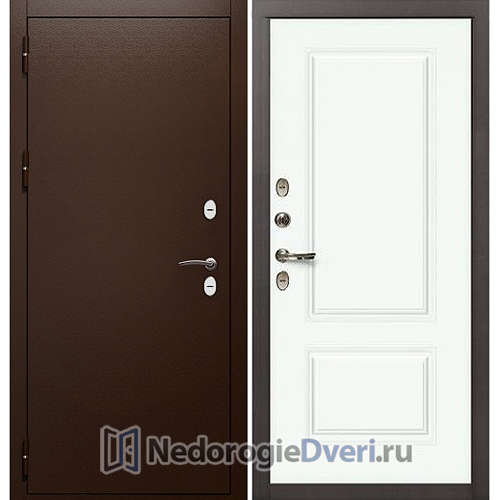 Входная дверь Лекс Сибирь Термо 3К (№55 Эмаль белая)