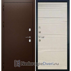Входная Уличная дверь Лекс Сибирь Термо 3К №63 (Уличные двери) Дуб Крем