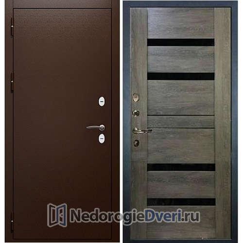 Входная дверь Лекс Сибирь Термо 3К Неро (Панель 65)